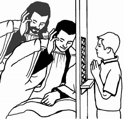Clipart Confession Sacrament Reconciliation Catholic Penance Coloring