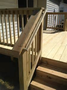 deck railing pictures stairs strong stair railing with smooth finish qualis construction