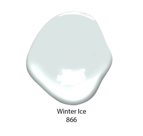 winter 866 paint color from benjamin is a