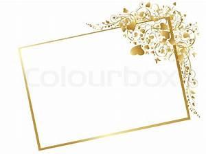 Bilder Mit Weißem Rahmen : illustration von floralen goldener rahmen mit wirbelt schmetterling und herzen auf wei em ~ Indierocktalk.com Haus und Dekorationen