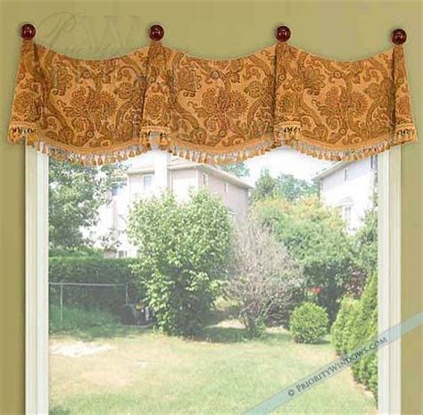 medallion swag valance window treatments ideas diy
