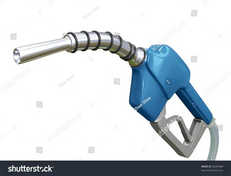 Isolated Blue Gas Pump Nozzle Stock Photo 36387868