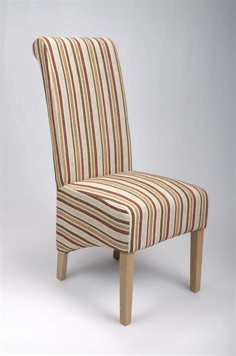fabric dining chairs gold stripe