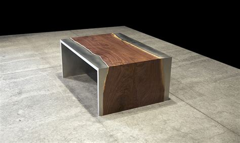 Couchtisch Stahl Holz by Steel And Wood Coffee Table By Johnhoushmand