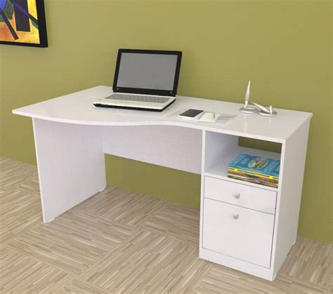 modern white desk with drawers inval white modern curved top desk contemporary desks