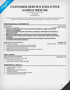 Customer service executive resume sample resumecompanion for Customer service executive resume