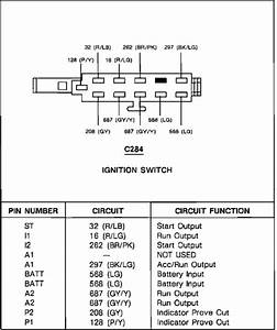 94 Ford Ranger Ignition Switch Diagram