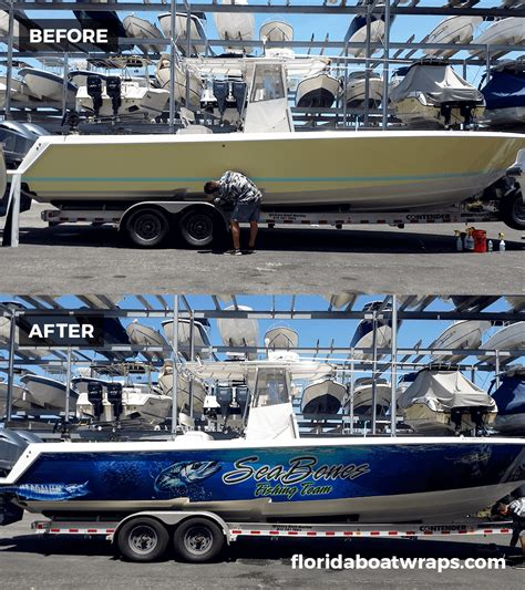 Fishing Boat Graphics Wrap by Wrapped Up Boat Vehicle Wraps Daytona Beach Florida
