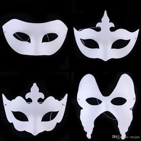 paper mask cheap diy painting white paper masks venetian masquerade masks fashion half paper