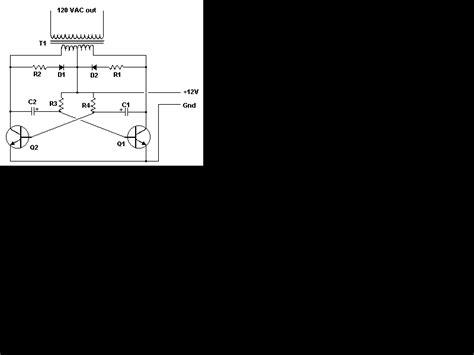 Simple Vdc Vac Inverter Circuit Diagram