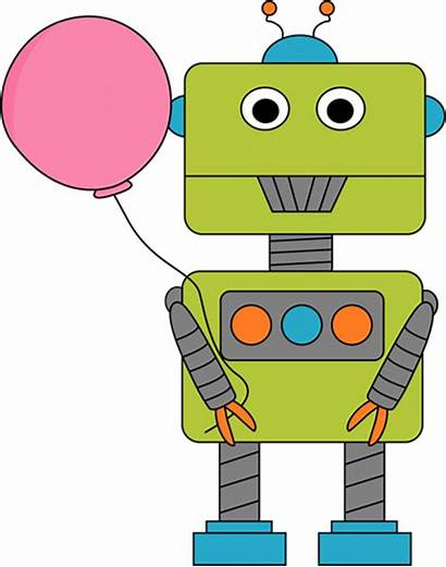 Robot Clip Clipart Balloon Robots Balloons Cliparts