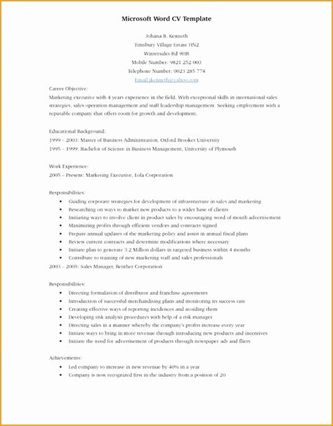 Resume Builder For Sales by 7 Sle Resume For Sales Executive Free Sles