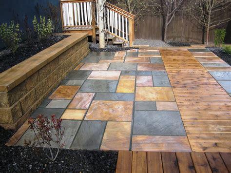 patio in set patio inset with cedar boardwalk k