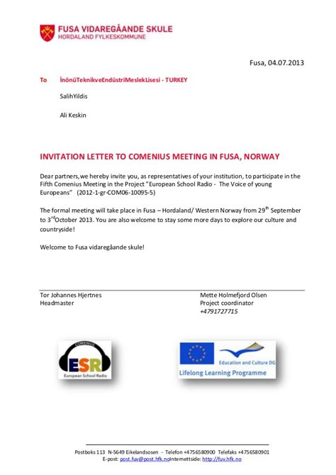 norwegian invitation letter  turkey