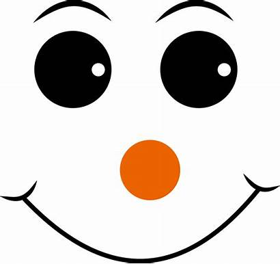 Face Smiley Snowman Emoji Clipart Nose Happy