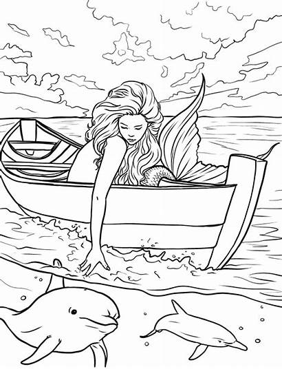 Mermaid Coloring Pages Adults Adult Selina Fenech