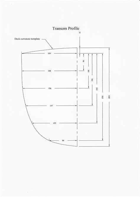 Boat Transom Dimensions by Mosquito Catamaran Measurement Templates