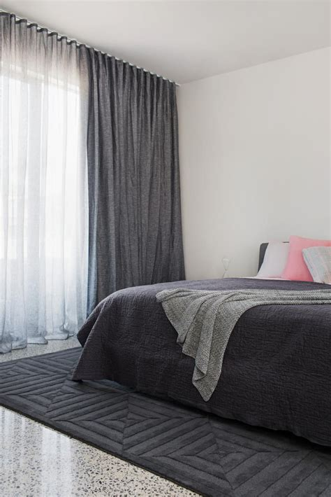 Bedroom Curtains Pencil Pleat by Pencil Pleat Curtain In Blockout Nocturn Fabric And Ash