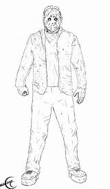 Jason Freddy Vs Coloring Pages Friday Michael Myers Voorhees Mask Drawing 13th Th Ec87 2009 Deviantart Hindenburg Getdrawings Sketch Template sketch template