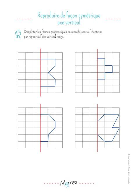 recette de cuisine ce1 la symétrie verticale exercice momes