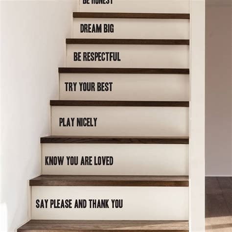 family rules stair stickers by oakdene designs notonthehighstreet com