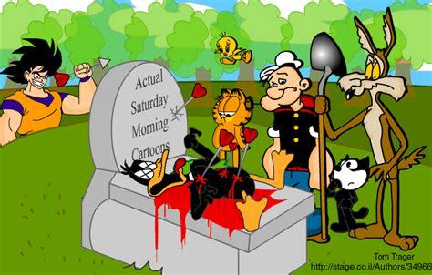 saturday morning cartoons  tomtrager  deviantart