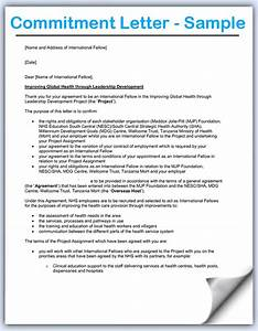 Letter of commitment jvwithmenowcom for Letter of commitment template