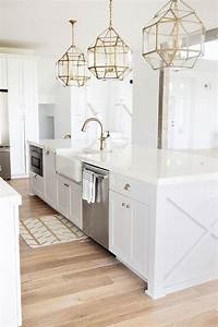 best 25 white kitchen island ideas on pinterest With kitchen colors with white cabinets with gold lips wall art