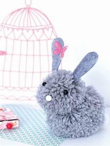 Bricolage A Faire Avec Des Petit : un lapin en pompons ~ Melissatoandfro.com Idées de Décoration