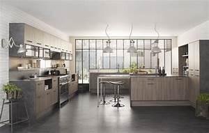20 inspirations pour une idee deco cuisine zen et apaisante With idee deco cuisine avec cuisine moderne gris clair