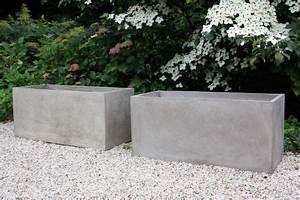 Beton Pflanzkübel Rechteckig : 2er set pflanzk bel pflanztrog aus beton maxi 100 natur ~ Sanjose-hotels-ca.com Haus und Dekorationen