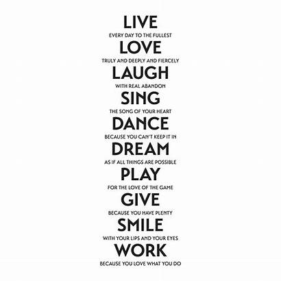Wall Laugh Quotes Sing Inspirational Decal Etc