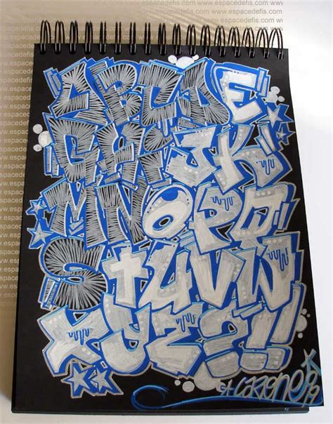 draw sketch alphabet  graffiti letters