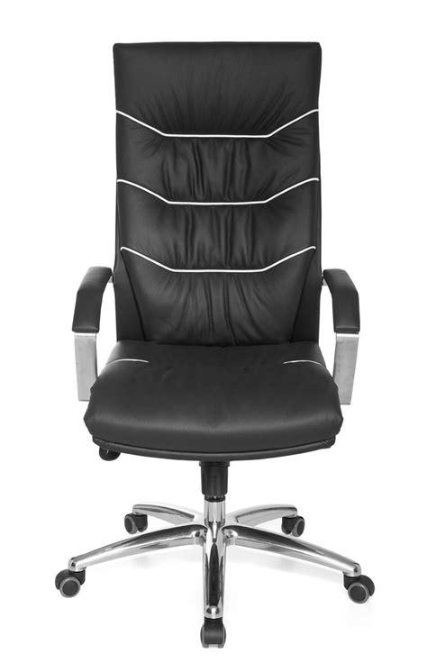 chaise de bureau cuir amstyle exécutif chaise de bureau ferrol cuir noir à
