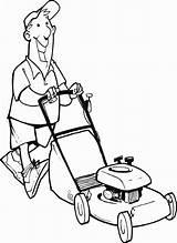 Mower Lawn Coloring Man Drawing Printable Pages Print Getdrawings Vector Sketch Clipartmag Vectors Getcolorings sketch template