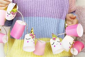 Bilder Mit Lichterkette : diy einhorn lichterkette aus bechern basteln kreative deko selber machen madmoisell diy ~ Frokenaadalensverden.com Haus und Dekorationen