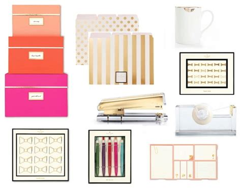 kate spade desk accessories george deluxe office set by kate spade reiko
