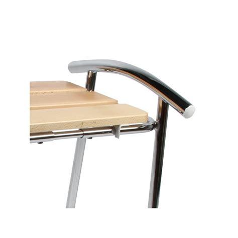 chaise salle de bain tabouret de salle de bain sedilvasca chromé et bois