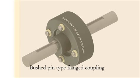 bushed pin type flanged coupling dis assembly animation shaft couplings autodesk inventor