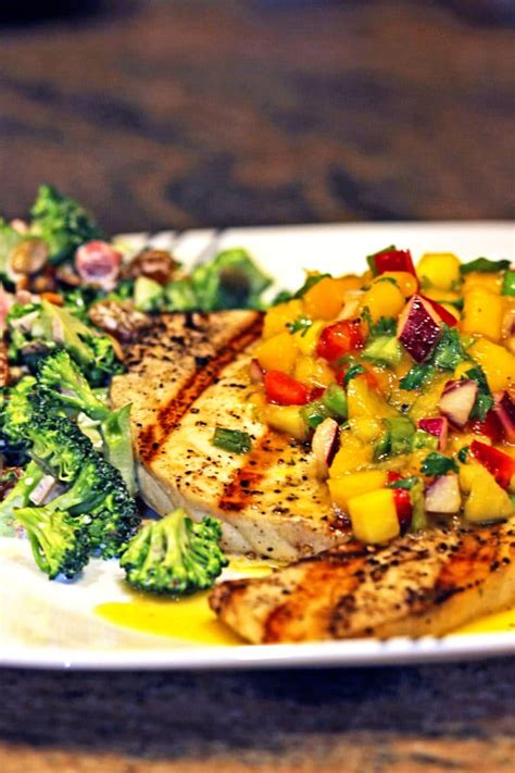 grilled swordfish  mango salsa kevin  cooking