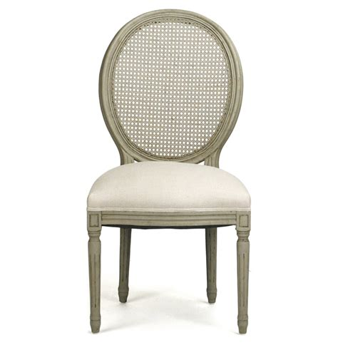 pair madeleine country oval caned olive dining chair