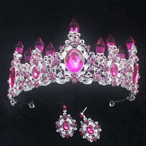 fashion pink wedding crowns and tiaras