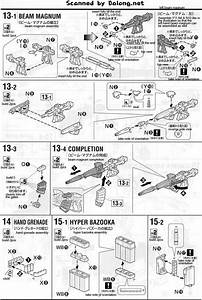 Mg Full Armor Unicorn Gundam English Manual  U0026 Color Guide