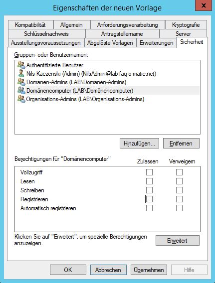 windows pki computerzertifikat manuell anfordern faq