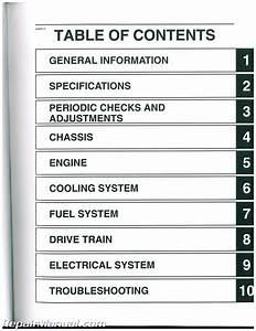 2012 Yamaha Yfm550 Yfm700 Grizzly Atv Service Manual
