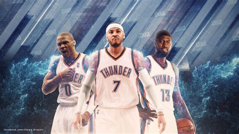 Okc Thunder Background Paul George Oklahoma City Thunder Wallpapers Wallpaper Cave