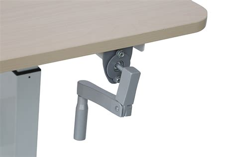 hand crank adjustable desk mountingear hand crank height adjustable desk
