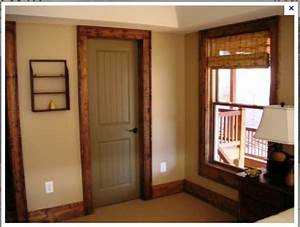 Painted interior doors with stained trim for Interior trim and door color ideas