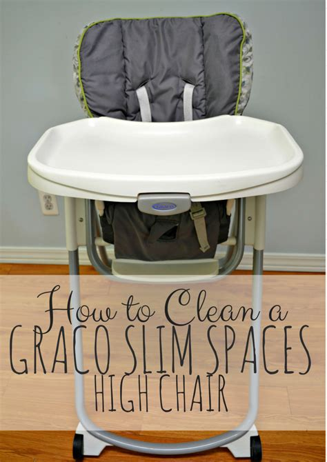 how to clean a graco slim spaces high chair