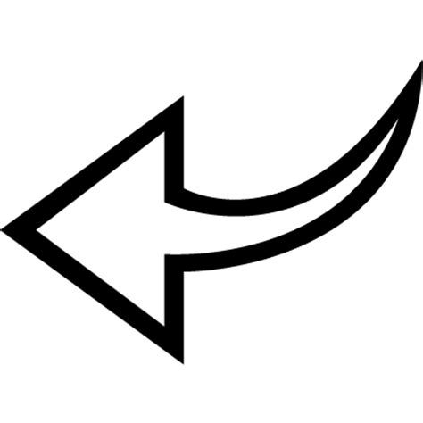 Left arrow curved outline ⋆ Free Vectors, Logos, Icons and ...